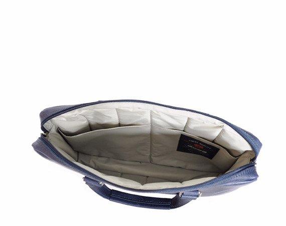 "Skórzana torba damska na laptopa 13,3"" DAAG Funky Go! 37 granatowa"