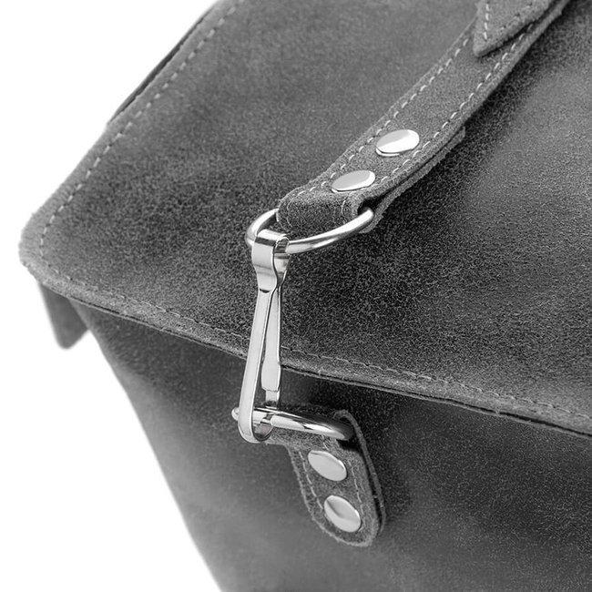 Skórzana torba i plecak 2w1 PAOLO PERUZZI GA320 szary