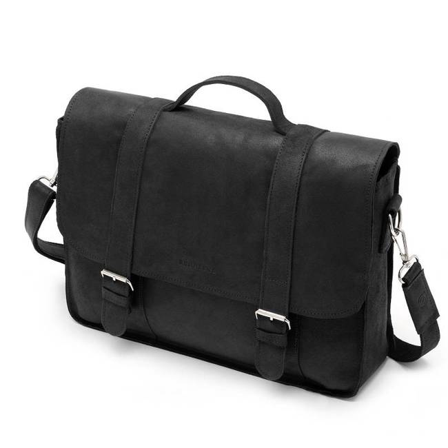 Skórzana torba męska BRODRENE BL11XL czarna
