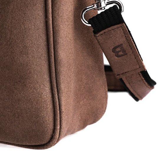Skórzana torba męska na laptop BRODRENE BL02 jasnobrązowa