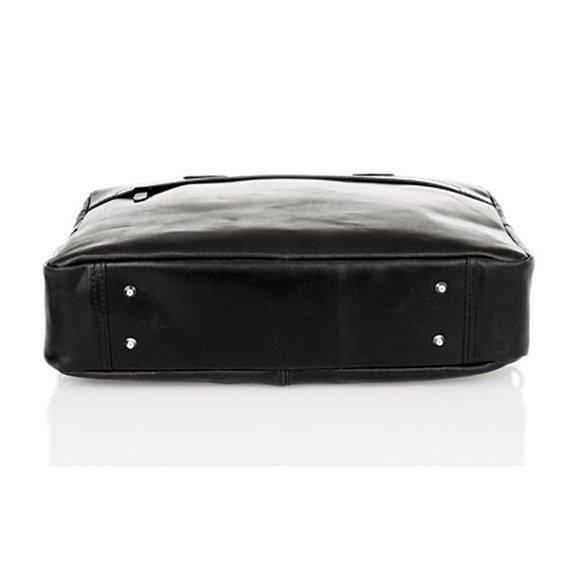 Skórzana torba męska na laptopa BRODRENE R03 ciemnobrązowa