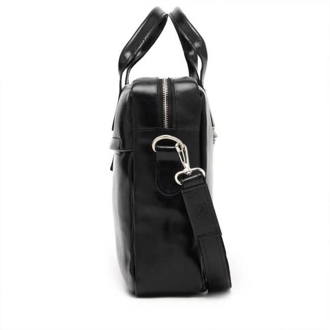 Skórzana torba męska na laptopa BRODRENE R03 czarna