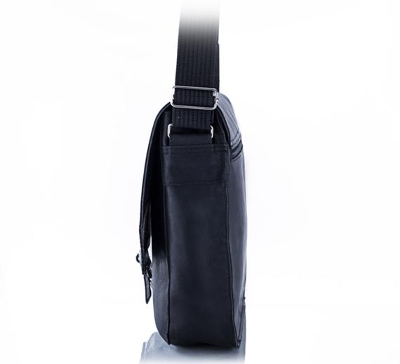 Skórzana torba męska na ramię BALEINE S1 ciemnobrązowa