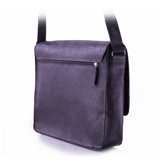 Skórzana torba męska na ramię BALEINE S3 ciemnobrązowa