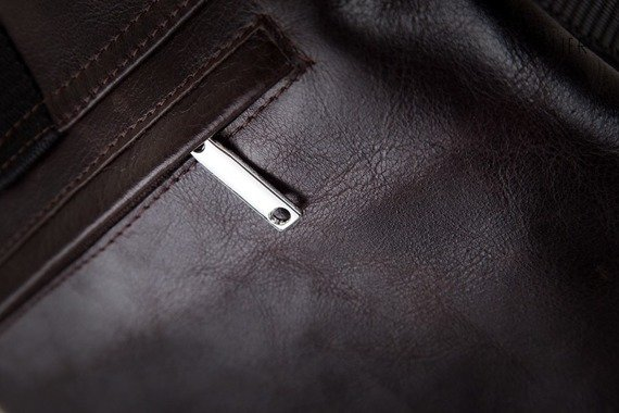 Skórzana torba męska na ramię, raportówka SOLIER ciemnobrązowa