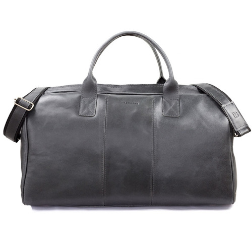 Skórzana torba męska podróżna BRODRENE R10 grafitowa