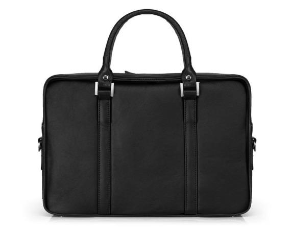 Skórzana torba na laptop Solier SL25 czarna
