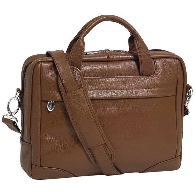 """Skórzana torba na laptopa 13,3"""" Mcklein Montclare 15494S brązowa"""