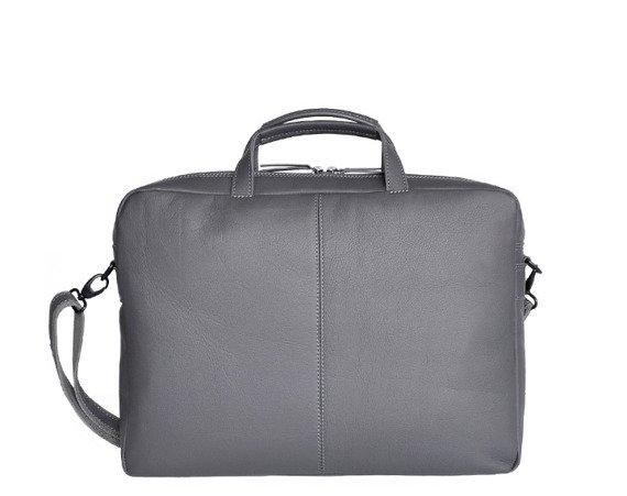 "Skórzana torba na laptopa 15"" unisex Daag Shaker 20 szara"