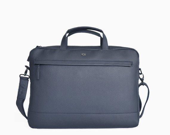 "Skórzana torba na laptopa 15"" unisex Daag Shaker 21 granatowa"