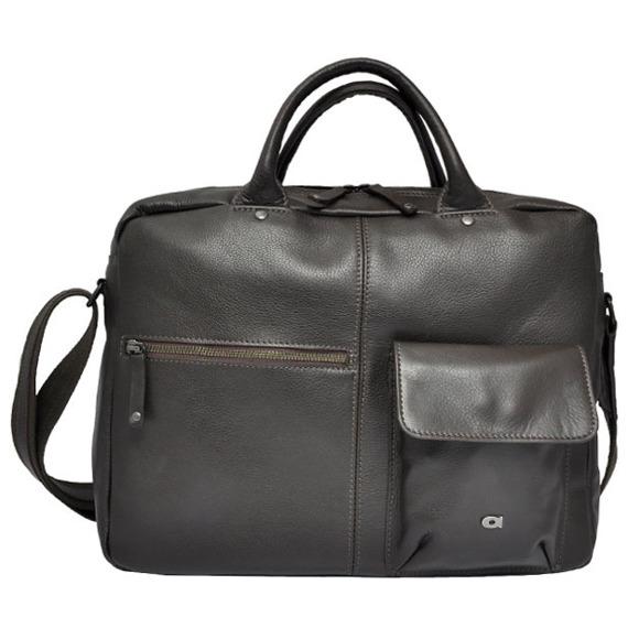 Skórzana torba na laptopa DAAG Albedo 12 ciemnobrązowa
