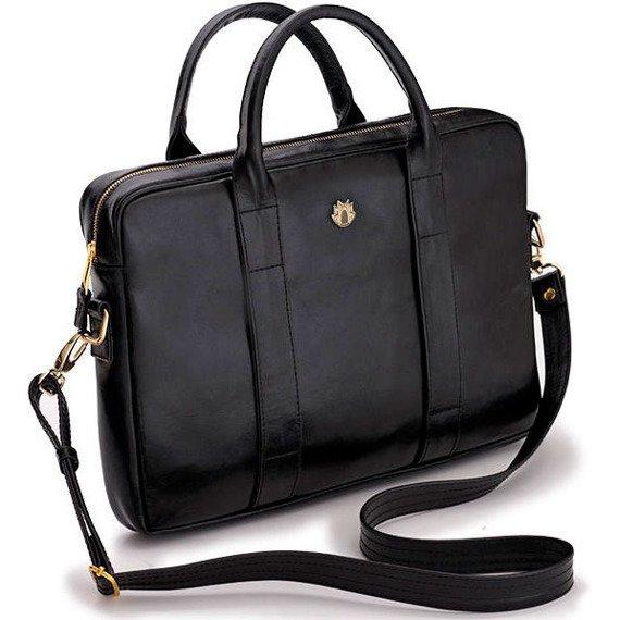 8eb9b6229ccfb Skórzana torba na laptopa Felice Gold FG04 czarna -  15193 ...
