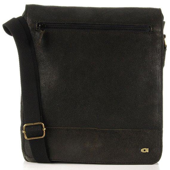 Skórzana torba na ramię unisex DAAG Jazzy Run 5 czarna
