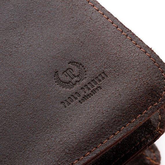 Skórzana torba teczka męska vintage Paolo Peruzzi S-04 brązowa
