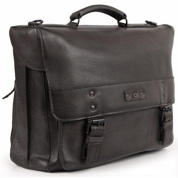 Skórzana torba/teczka na laptopa Daag Shaker 28 czarna