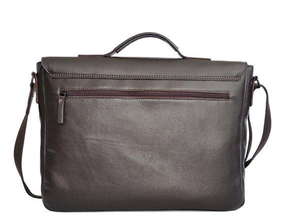 Skórzana torba/teczka na laptopa unisex Daag Shaker 33 brązowa