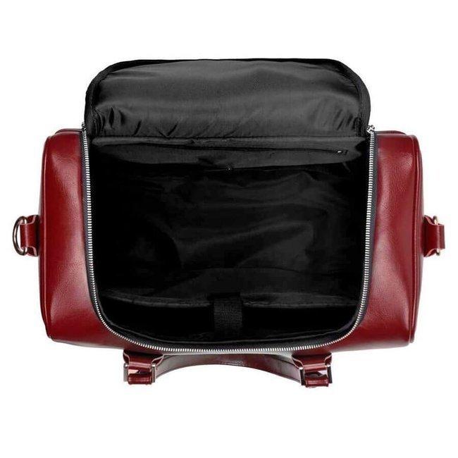 Skórzana torba weekendowa unisex Solier Dratford SL27 brown maroon