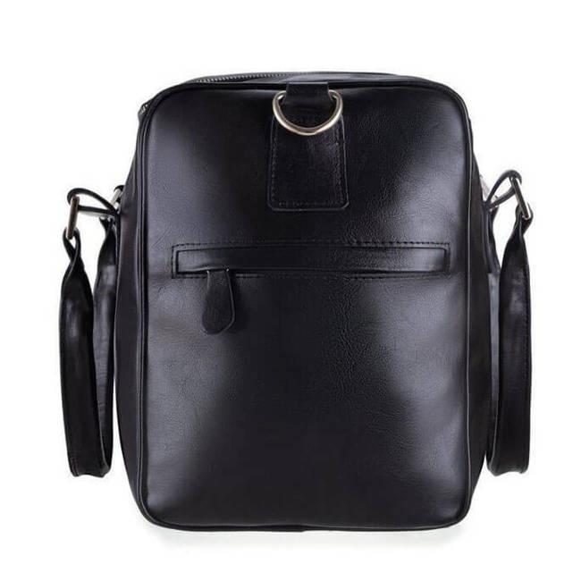 Skórzana torba weekendowa unisex Solier Dratford SL27 czarna