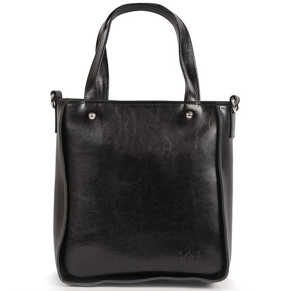 Skórzana torebka DAN-A T401 czarna