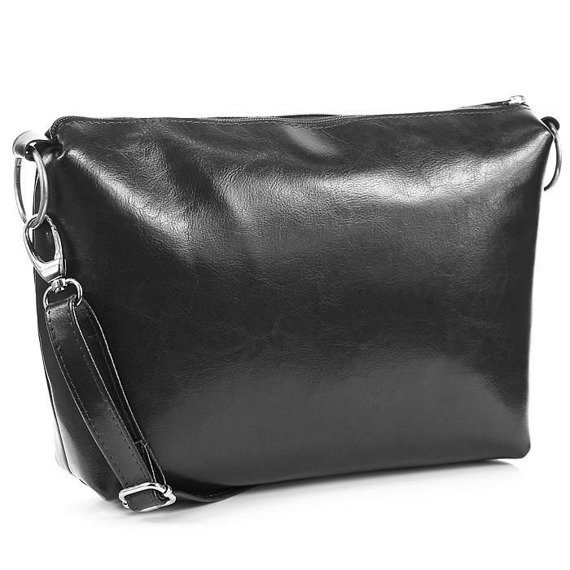 Skórzana torebka damska czarna DAN-A T353