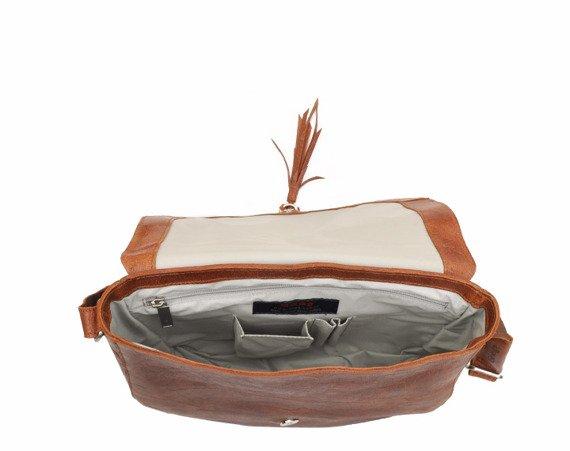 Skórzana torebka listonoszka DAAG FUNKY GO! 35 jasnobrązowa