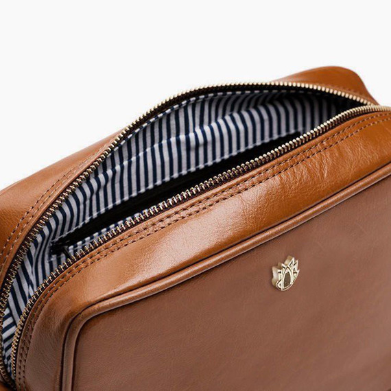 Skórzana torebka listonoszka Felice Gold FG03