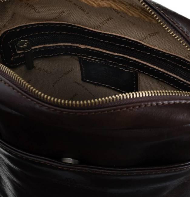 Skórzana torebka listonoszka ciemny brąz Badura T_D194CB_CD