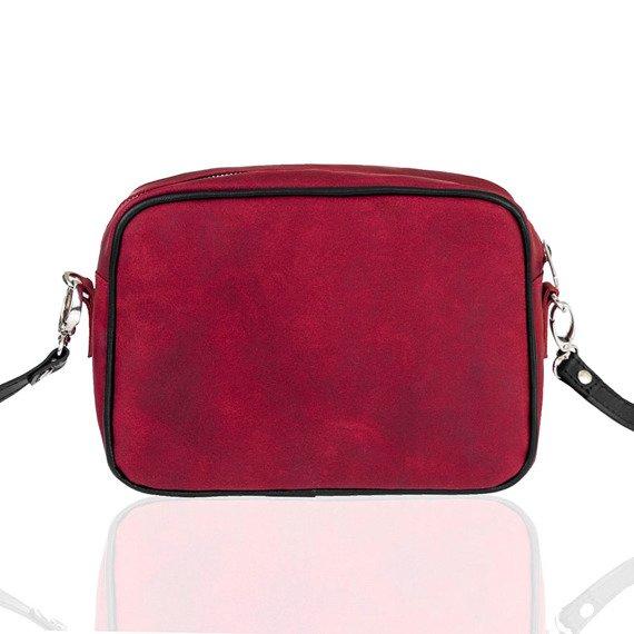 Skórzana torebka listonoszka damska Brodrene Lund BL102 czerwona