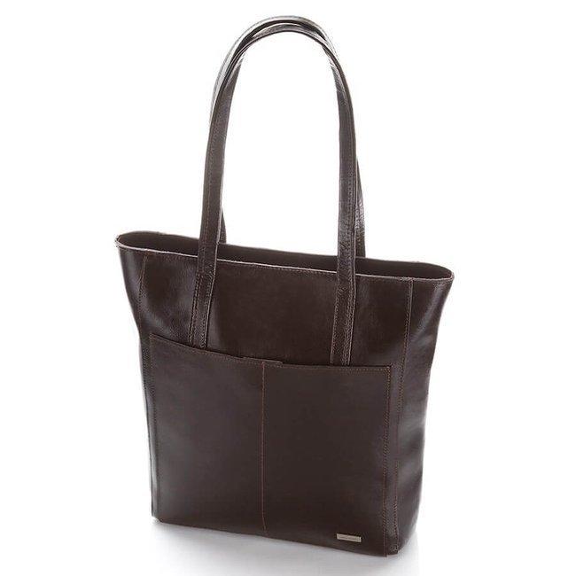 Skórzana torebka na ramię Paolo Peruzzi Z-21-BR ciemnobrązowa