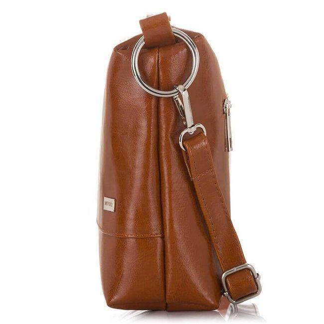 Skórzana torebka shopper bag 2w1 Paolo Peruzzi Z-25-CG koniakowa