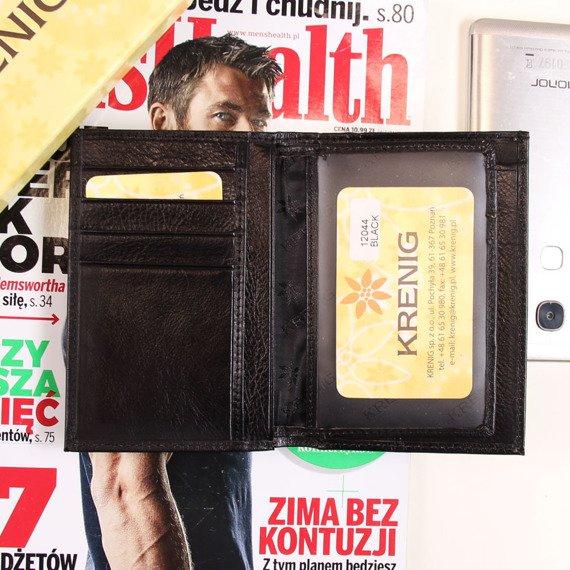Skórzane etui na dokumenty KRENIG Classic 12044 czarne