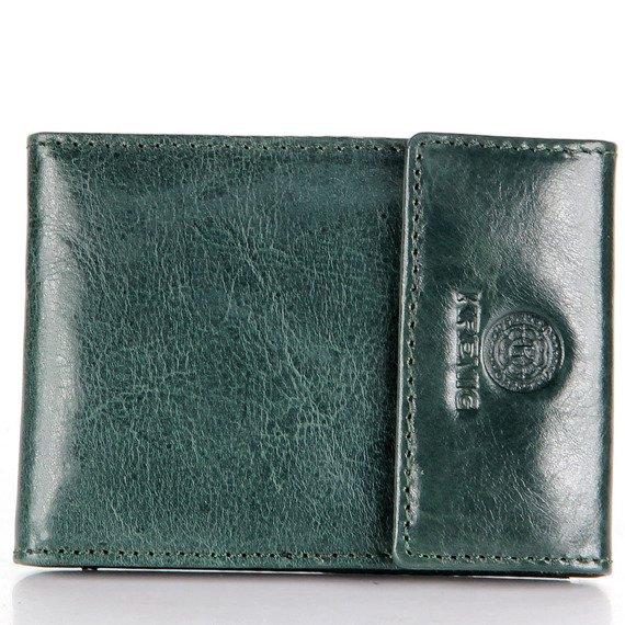 Skórzane etui na karty, dokumenty KRENIG Classic 12034 zielone