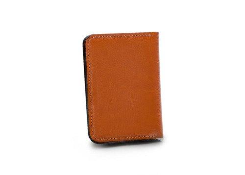 Skórzany cienki portfel męski z bilonówką SOLIER SW16 SLIM jasny brąz