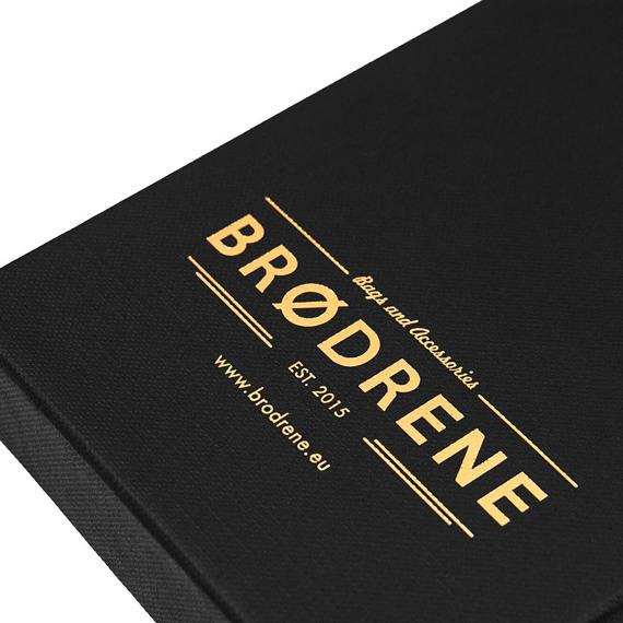 Skórzany cienki portfel slim wallet BRODRENE SW05 czerwony