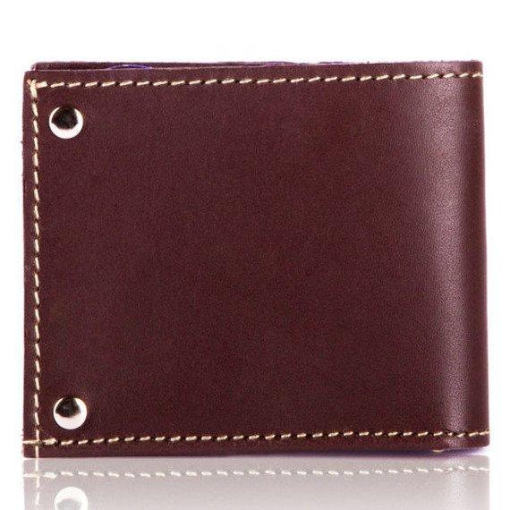 Skórzany cienki portfel wizytownik SOLIER SW21 brązowy vintage