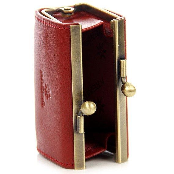 Skórzany kuferek KRENIG Classic 12017 czerwony