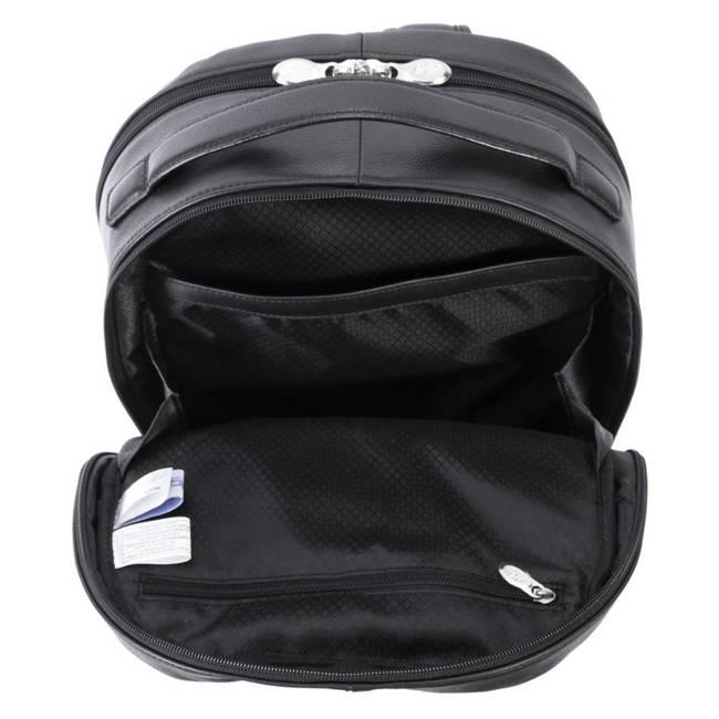 Skórzany męski plecak na laptopa MCKLEIN Parker 88555 czarny