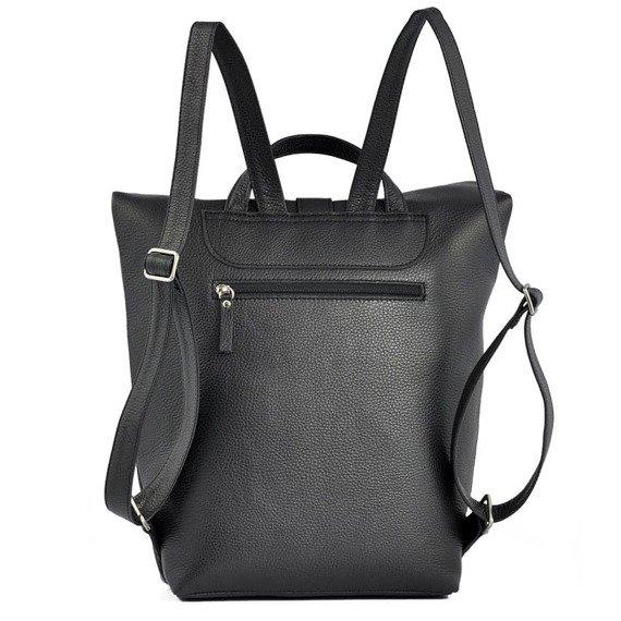 Skórzany plecak damski DAAG Native 23 czarny