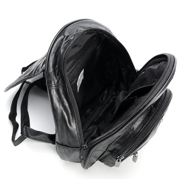 Skórzany plecak damski czarny Bag Street GA33