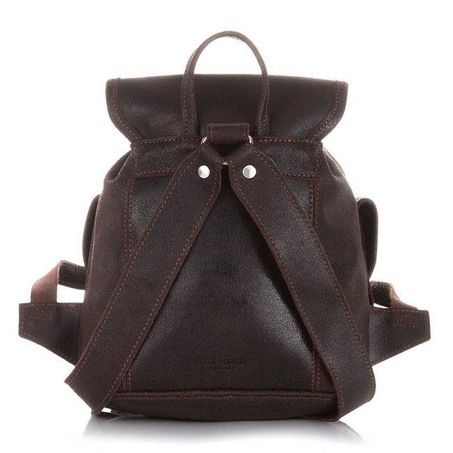 Skórzany plecak damski vintage c.brązowy PAOLO PERUZZI S-11-LB