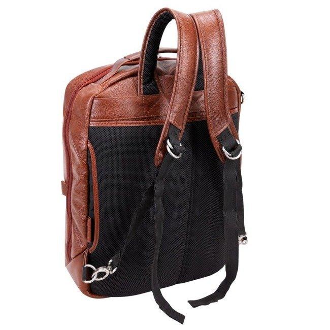 Skórzany plecak i torba na laptopa McKlein East Side brązowy