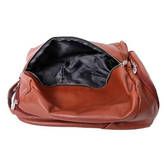 Skórzany plecak męski na laptopa McKlein South Shore brązowy