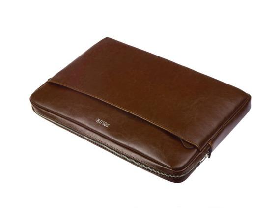 Skórzany pokrowiec etui na laptopa 15 cali Solier SA24A brązowy