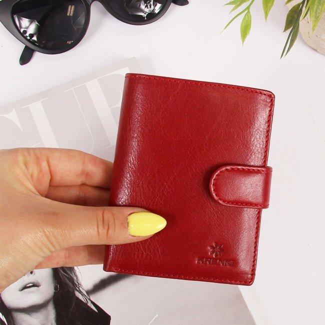 Skórzany portfel czerwony damski Krenig 12089
