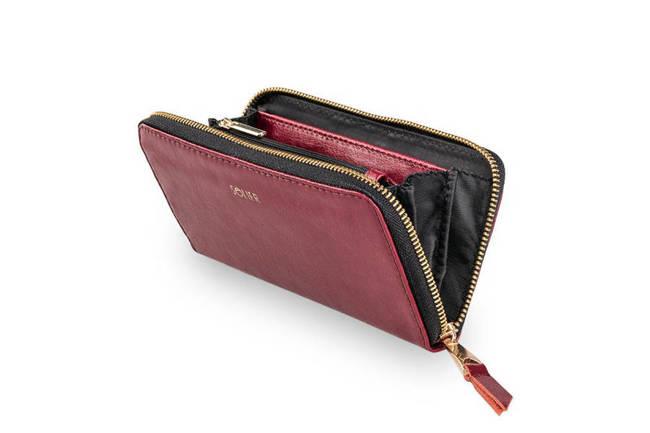 Skórzany portfel damski Felice P02 bordowy
