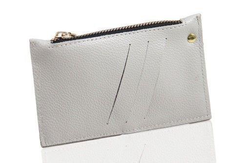 Skórzany portfel damski Felice P07 szary
