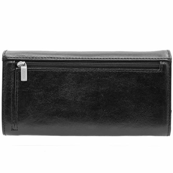 Skórzany portfel damski KRENIG Classic 12015 czarny w pudełku