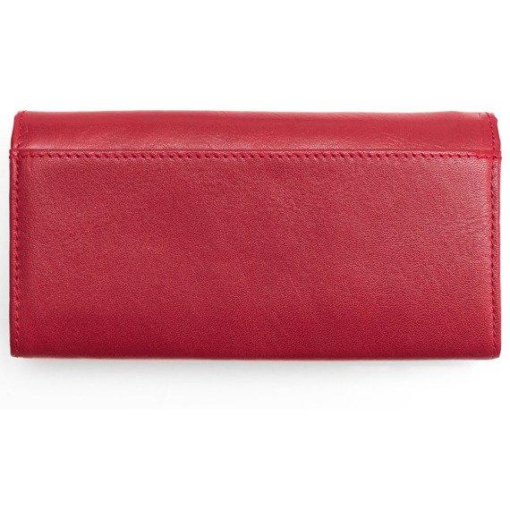 Skórzany portfel damski KRENIG Scarlet 13051 czerwony
