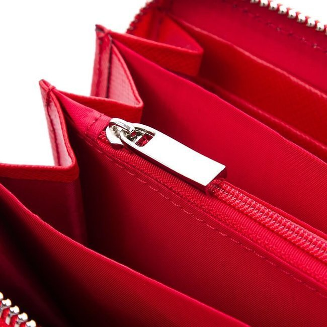 Skórzany portfel damski granatowy Paolo Peruzzi Saffiano M-07