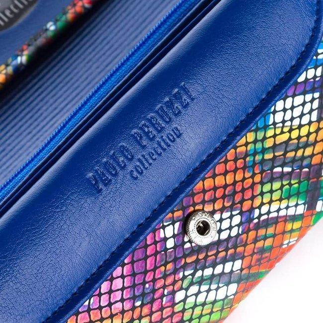 Skórzany portfel damski kolorowy Paolo Peruzzi L-38-BLUE